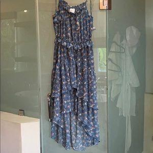 MISA Los Angeles print ruffle dress